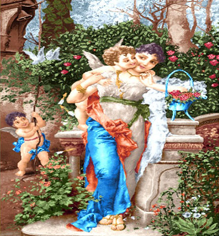 نخ و نقشه آماده طرح بازی در باغ مادر و فرزند کد 209