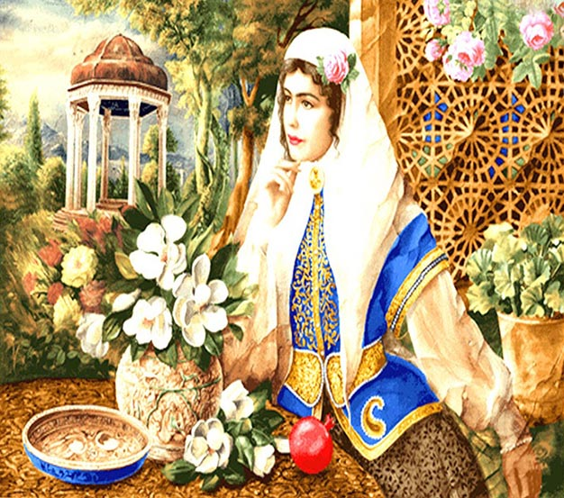 عکس نخ و نقشه طرح دختر شیراز