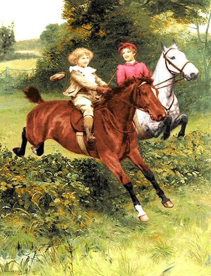 نخ و نقشه طرح اسب سواری