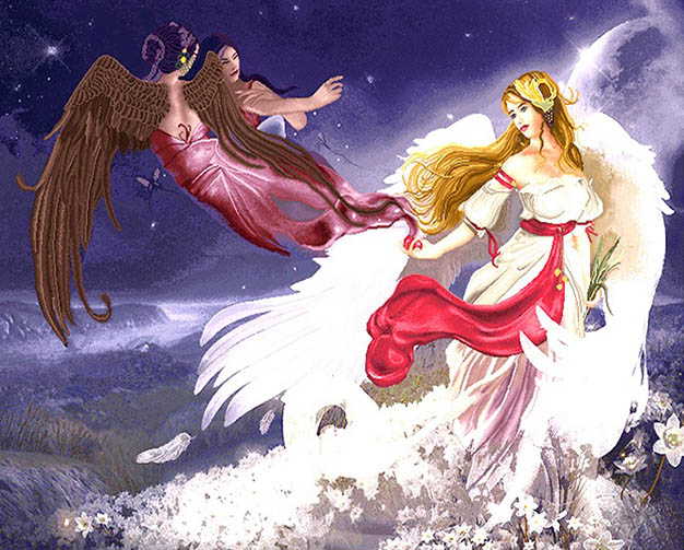 نخ و نقشه تابلوفرش طرح فرشته کد 256