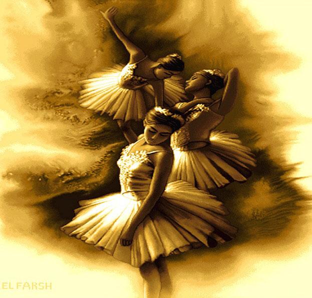 نخ و نقشه آماده طرح رقص باله