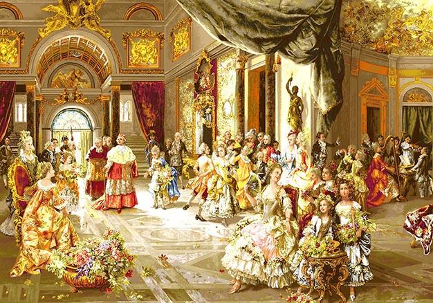 عکس نخ و نقشه آماده بافت تابلو فرش عروسی پاپ کد 1020