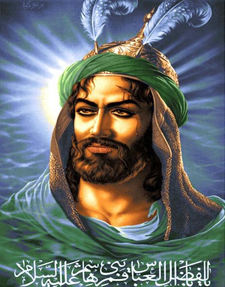 نخ و نقشه تابلو فرش طرح حضرت ابوالفضل