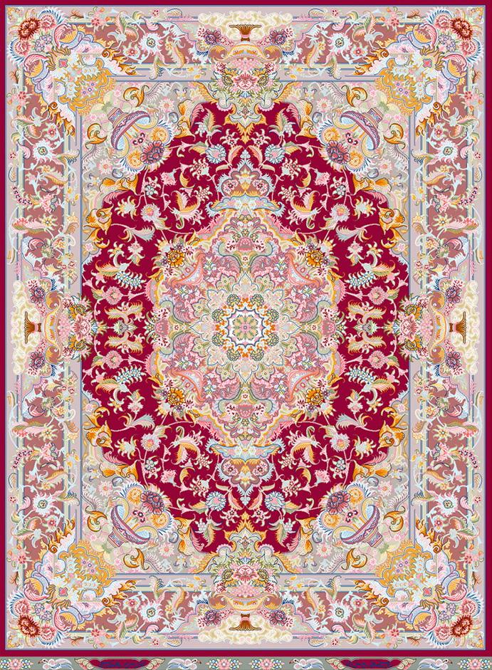 نخ و نقشه طرح قالیچه کد 1800