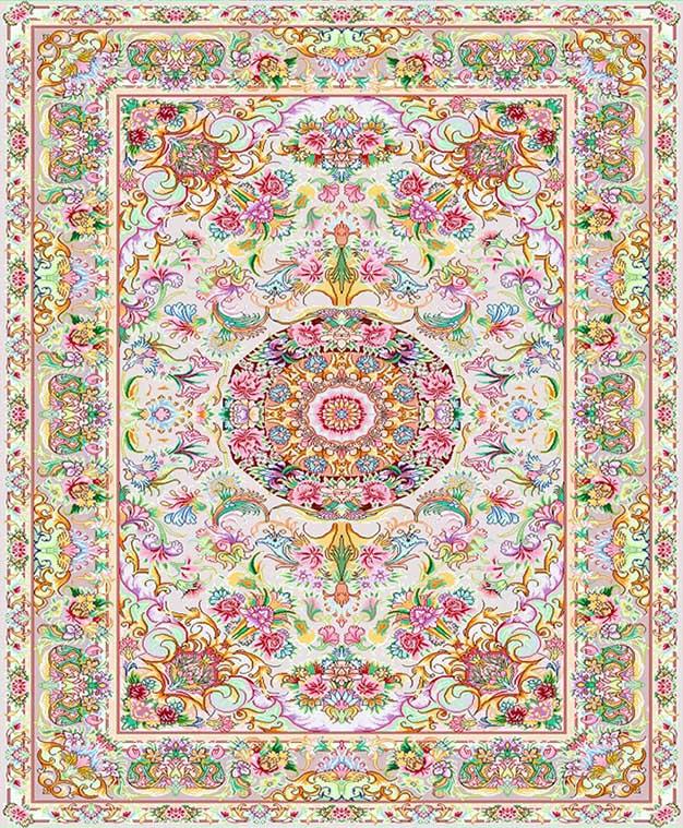 نخ و نقشه طرح قالیچه زیر پا