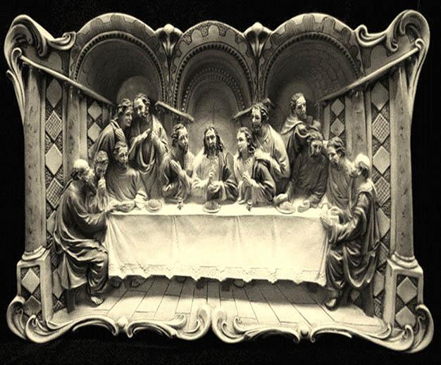 عکس نخ و نقشه طرح تندیس شام اخر حضرت عیسی