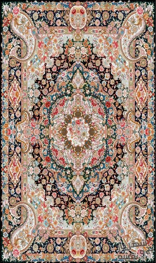 نخ و نقشه و مصالح بافت قالیچه زیرپایی کد 5051