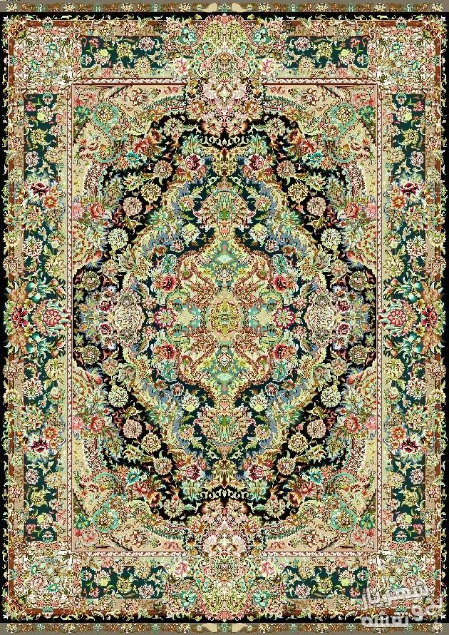 نخ و نقشه و مصالح بافت فرش قالیچه زیرپایی کد ب20