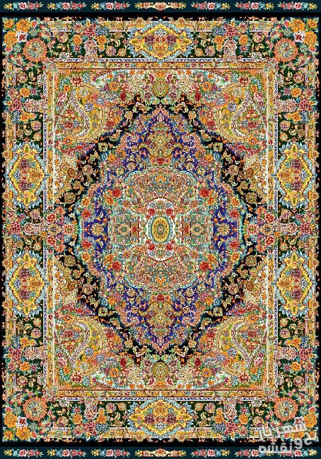 نخ و نقشه و مصالح بافت قالیچه زیرپایی کد ب22