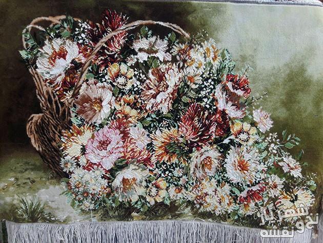 فروش تابلو فرش آماده طرح ریخته گل وحشی کد R 7