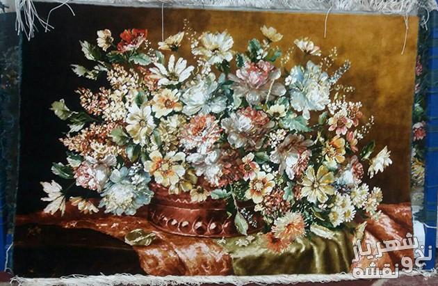 فروش تابلو فرش بافته شده و آماده طرح گل رز کد r3