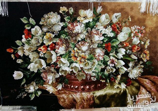 خرید اینترنتی تابلو فرش آماده طرح گل های رز کد R 10