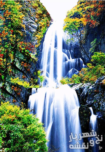 نخ و نقشه تابلوفرش منظره آبشار زیبا کد 92246
