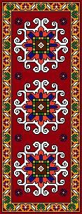 نخ و نقشه آماده بافت فرش و قالیچه زیرپایی طرح حاشیه کد 99915