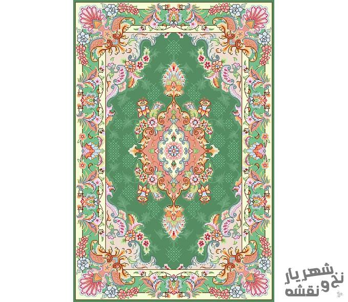 نخ و نقشه و مصالح بافت فرش و قالیچه زیرپایی کد 99884
