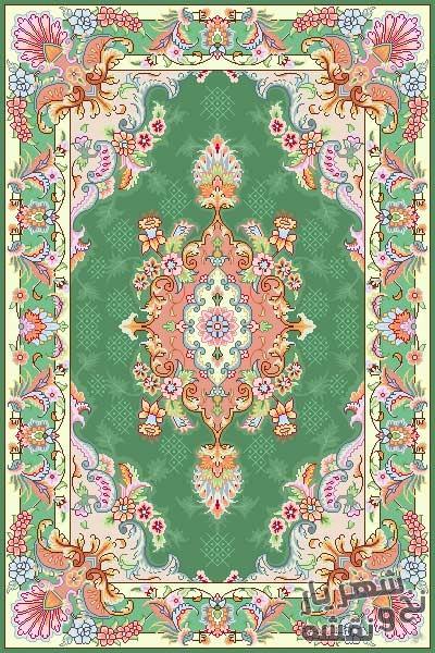 نخ و نقشه فرش قالیچه کوچک کد r-5697