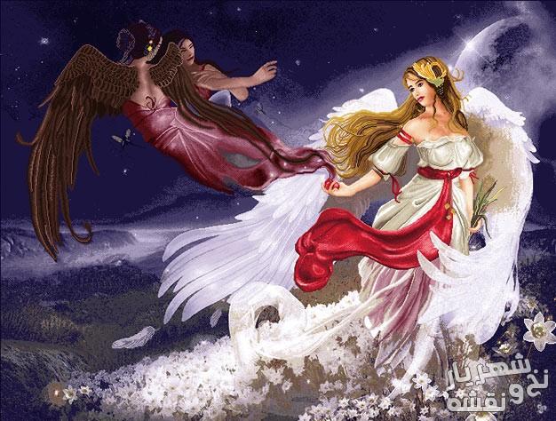 نخ و نقشه تابلو فرش طرح فانتزی فرشته کد c-7859