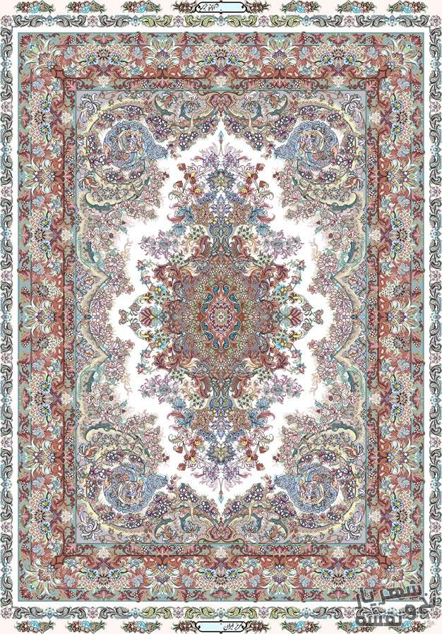 نخ و نقشه فرش دستباف قالیچه طرح جدید کد r-5515