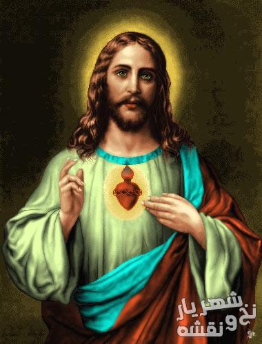 نخ و نقشه تابلو فرش طرح حضرت عیسی مسیح کد j-181